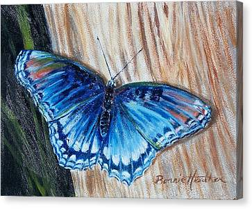 Canvas Print featuring the painting So Blue by Bonnie Heather