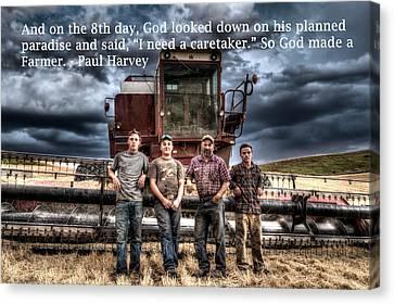 So God Made A Farmer Canvas Print