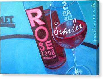 Wine Reflection Art Canvas Print - So Malibu by Penelope Moore