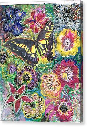 So Many Flowers So Little Time Canvas Print by Anne-Elizabeth Whiteway