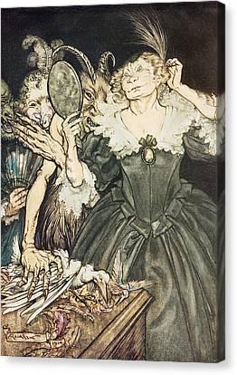 So Perfect Is Their Misery Canvas Print by Arthur Rackham