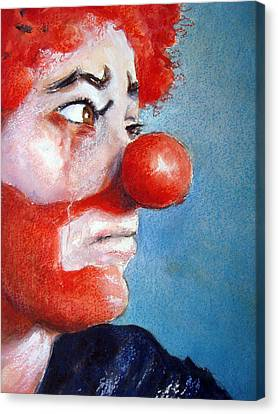 Sadness Canvas Print - So Sad by Myra Evans