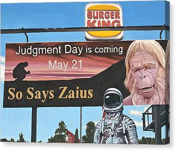 So Says Zaius Canvas Print by Scott Listfield