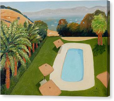 Canvas Print featuring the painting So Very California by Gary Coleman