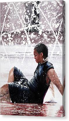 Soaked Canvas Print by Denny Bond