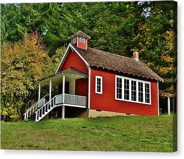 Soap Creek Schoolhouse Canvas Print