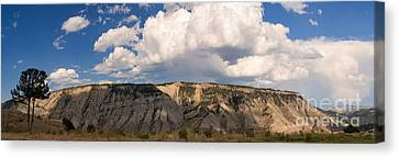 Soaring Above Mount Everts Canvas Print by Charles Kozierok