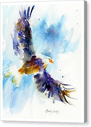 Soaring Eagle Canvas Print by Christy Lemp