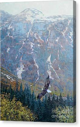 Soaring Eagle Canvas Print by Donald Maier