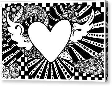 Soaring Heart  Canvas Print by Nada Meeks