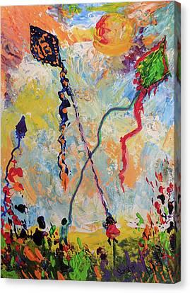 Sikh Art Canvas Print - Soaring High by Sarabjit Singh