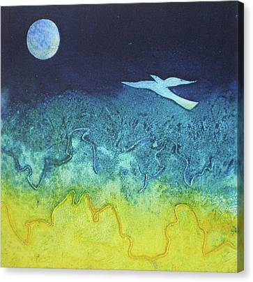 Soaring Into The Blue Canvas Print by Susanne Clark