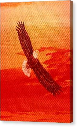 Canvas Print featuring the painting Soaring by Katherine Young-Beck