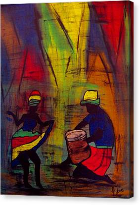 Soca Dancing Canvas Print by Glenda  Jones