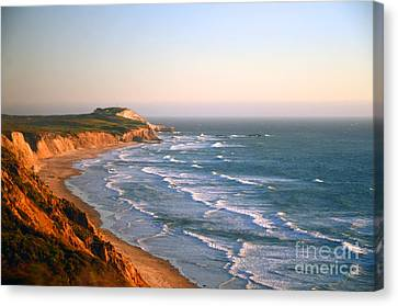 Canvas Print featuring the photograph Socal Sunset Ocean Front by Clayton Bruster