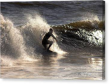 Socal Surfing Canvas Print by Clayton Bruster