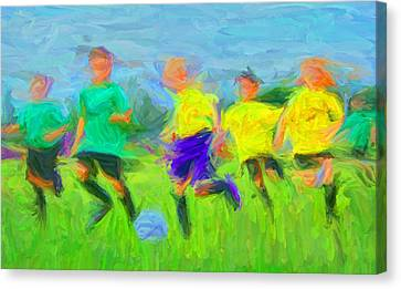 Soccer 3 Canvas Print by Caito Junqueira