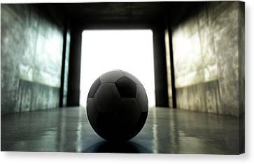 Soccer Ball Sports Stadium Tunnel Canvas Print by Allan Swart
