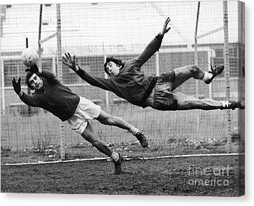 Soccer Goalies, 1974 Canvas Print by Granger