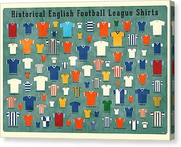 Soccer Shirts Canvas Print by Daviz Industries