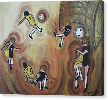 Soccer Canvas Print by Suzanne  Marie Leclair