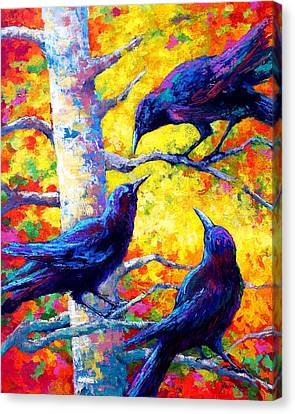 Crows Canvas Print - Social Cub I by Marion Rose