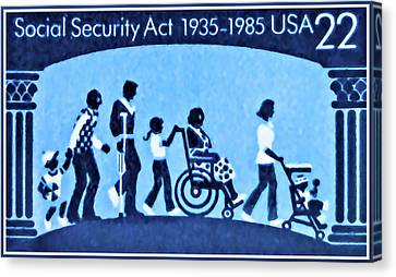 Crutch Canvas Print - Social Security Act by Lanjee Chee