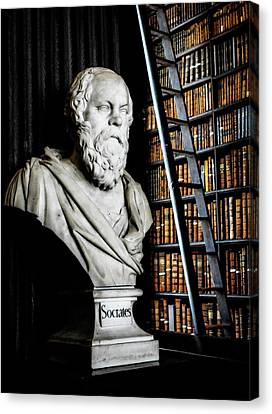 Socrates A Writer Of Knowledge Canvas Print by Lexa Harpell