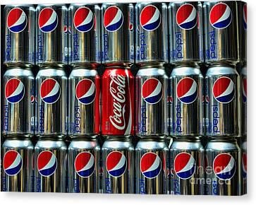 Soda - Coke Vs. Pepsi Canvas Print