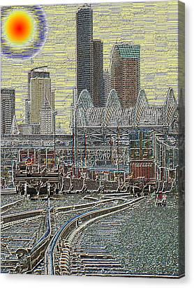 Sodo Tracks Canvas Print by Tim Allen