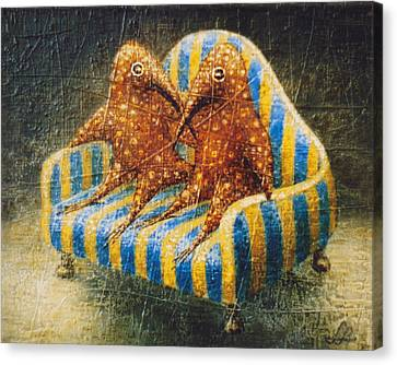 Sofa Canvas Print by Lolita Bronzini