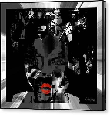 Canvas Print featuring the glass art Sofi by Fania Simon