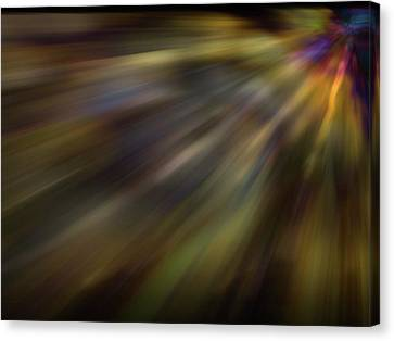 Soft Amber Blur Canvas Print