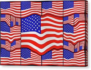 Soft American Flags 3 Canvas Print