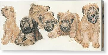 Soft-coated Wheaten Terrier Puppies Canvas Print