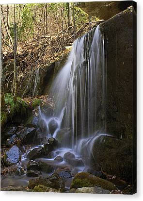 Canvas Print featuring the photograph Soft Falls by Alan Raasch