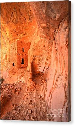 Soft Glow On Tower House Canvas Print