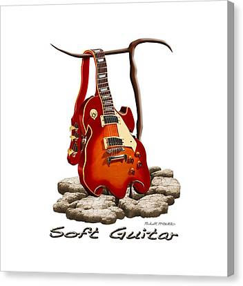 Soft Guitar - 3 Canvas Print by Mike McGlothlen