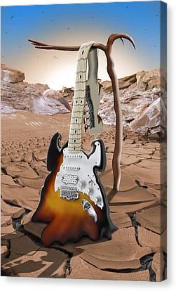 Soft Guitar 4 Canvas Print by Mike McGlothlen