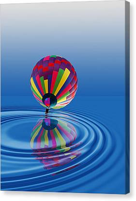 Canvas Print featuring the photograph Soft Landing by Kathleen Stephens
