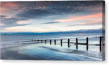 Soft Light Sundown Canvas Print by Adrian Evans