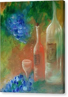 Soft Lite Wine Canvas Print by Lynda McDonald