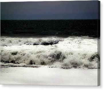 Soft Rumbling Waves Canvas Print by Heather Joyce Morrill