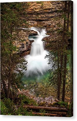 Canvas Print featuring the photograph Soft Smooth Waterfall by Darcy Michaelchuk