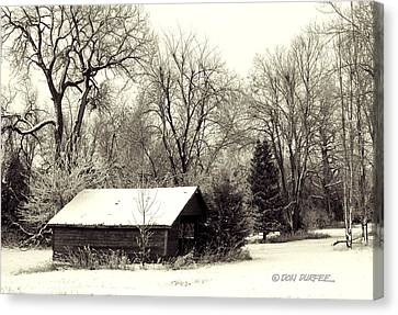 Canvas Print featuring the photograph Soft Snow Cover by Don Durfee