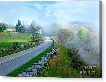 Soft Spring Morning On Blue Ridge Parkway I Canvas Print