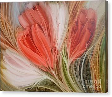 Soft Tulips Canvas Print by Fatima Stamato
