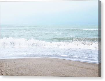 Canvas Print featuring the mixed media Soft Waves 2- Art By Linda Woods by Linda Woods