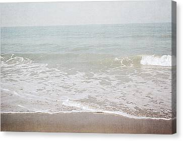 Canvas Print featuring the mixed media Soft Waves- Art By Linda Woods by Linda Woods