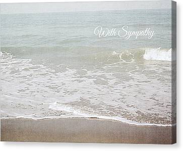 Canvas Print featuring the mixed media Soft Waves Sympathy Card- Art By Linda Woods by Linda Woods